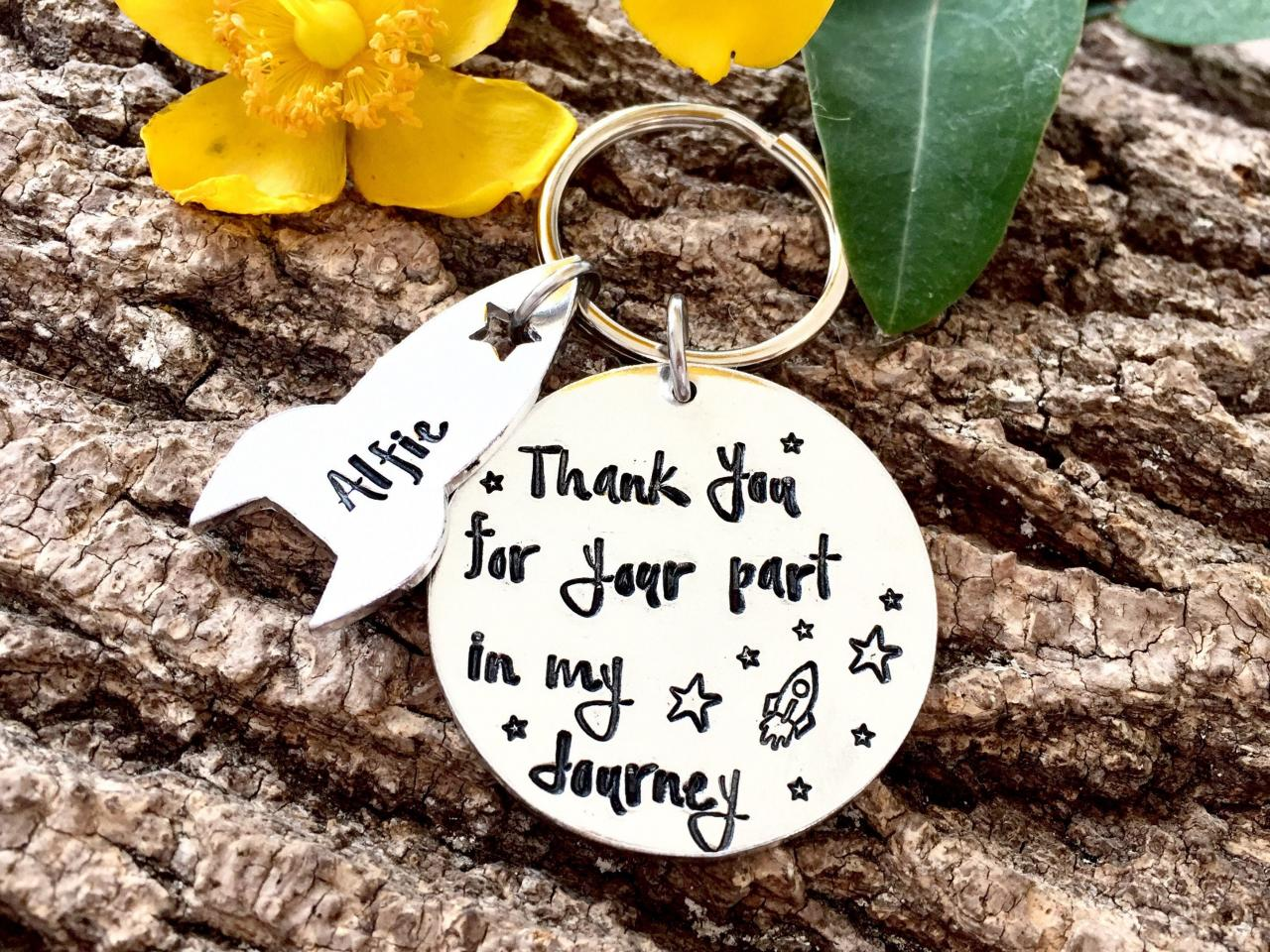 Teacher Gift, Childminder Gift, Nursery Gift, Thank you gift, My Journey, Leaving Gift, End of Term Gift, Personalised Keyring, Grandparent