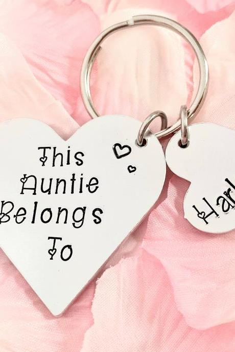 This Auntie Belongs To, Personalised Gift, Gift For Her, Gift For Auntie, from the kids, Aunt Gift, Auntie Gift, Hand stamped Gift, Aunt