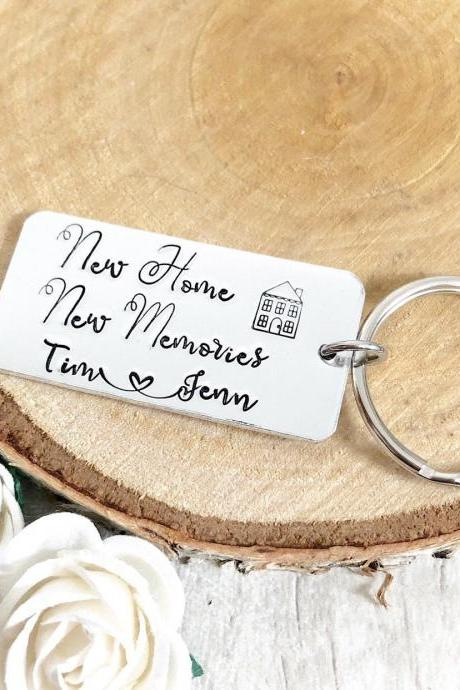 New Home, New Home Gift, New House, Personalised Keyring, First Home, New House Gift, Personalsied Home, Our First Home Gift,