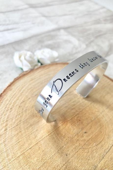 Cuff Bracelet, Personalised Cuff, Inspirational cuff, stamped cuff, bracelet cuff, motivational gift, inspirational quotes, motivation quote