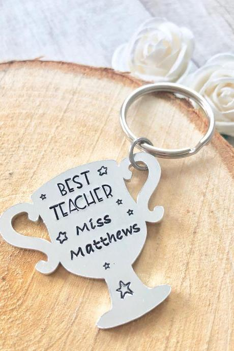 Best Teacher, Teacher Gift, Childminder Gift, Nursery Gift, Thank you gift, Leaving Gift, End of Term Gift, Personalised Keyring, Thank you