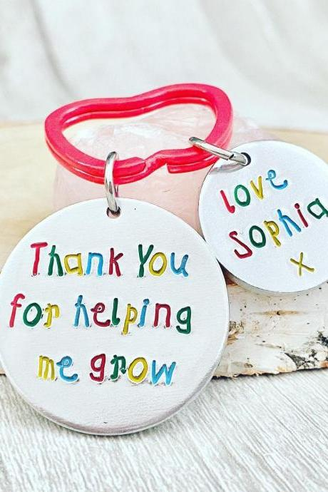 Teacher Gift, Thank you gift, Leaving Gift, End of Term Gift, Personalised Keyring, Teacher, Teacher present, Personalised Teacher Gift,