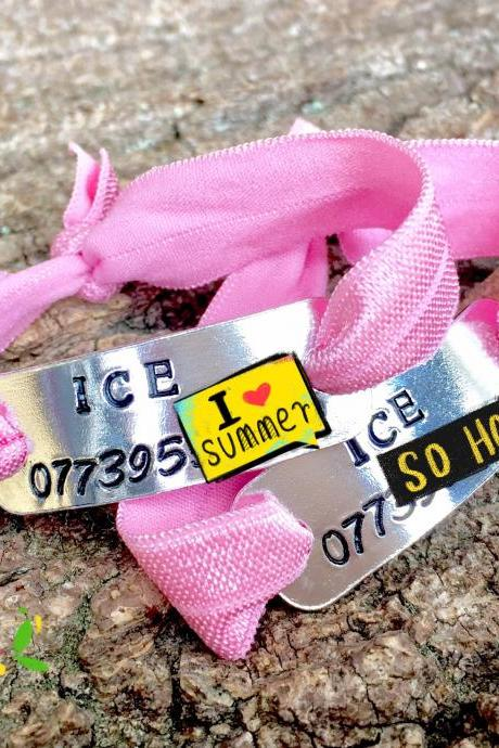 ICE, In case of emergency, emergency contact, kids safety bracelet, id bracelet, emergency bracelet, safety bracelet, child safety, holiday