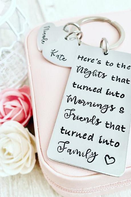 Best Friend Gift, Friend Gift, Best Friend Birthday, Friendship Gift, Friendship Quote, Personalized Gift, Friends that turned into Family