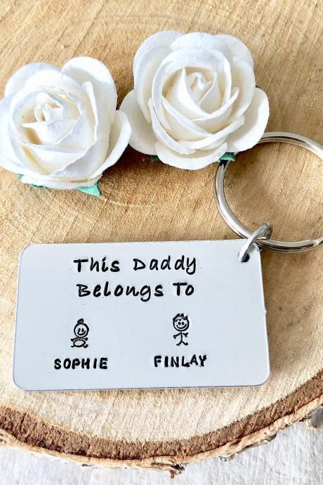 This Daddy belongs to, Hand stamped, Fathers Day, For Him, Fathers Day Present, Personalised Gift, For Daddy, New Daddy, Gift for Daddy,