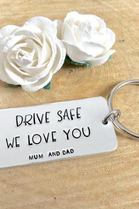 Drive Safe Keychain, drive safe, drive safe keyring, be safe keychain, new driver, be safe, car accessories, 18th gift, 18th