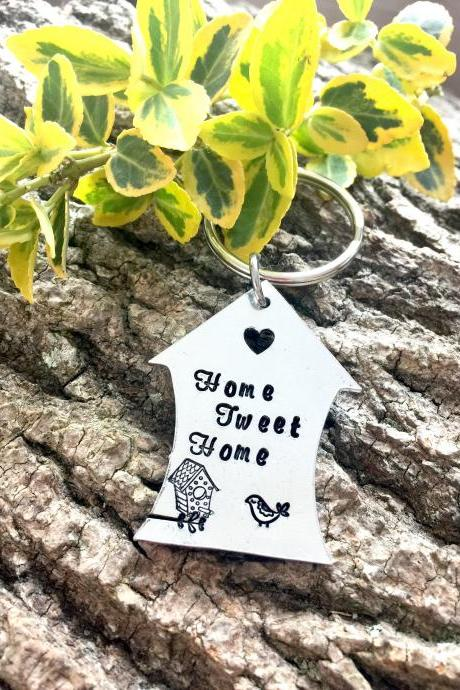New Home Gift, Home Tweet Home, Gift for Her, Moving Gift, House Keyring, Personalised Gift, Home Sweet home, House Keys, Birthday Gift,
