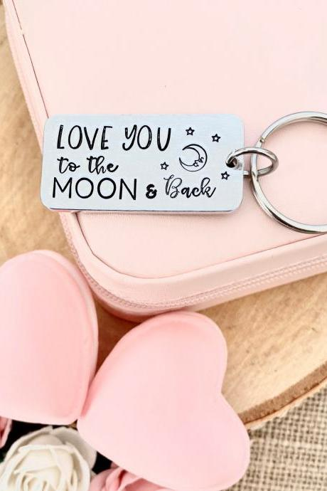 Love You to the Moon and Back, Valentine's Day Gift, Anniversary Gift, Funny, Gift for Men Husband Boyfriend, Girlfriend Wife Gift, Valentin