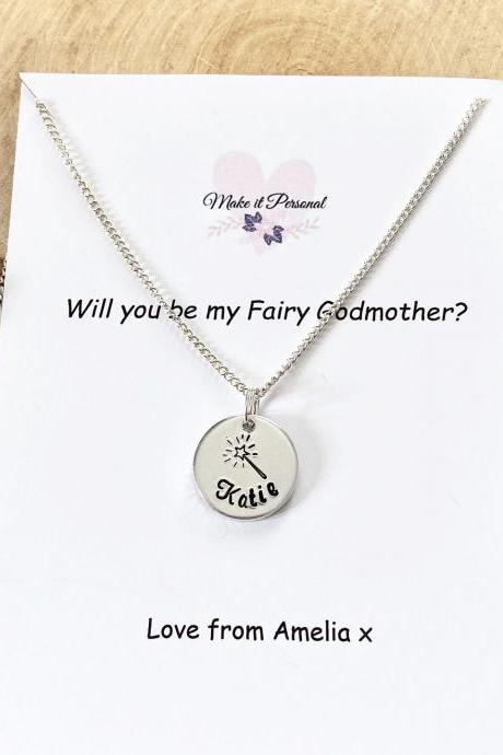 Godmother Gift, Gift for Godmother, Fairy Godmother, Christening, Godparent Gift, Guardian, Gift for Godparent, Personalised Necklace