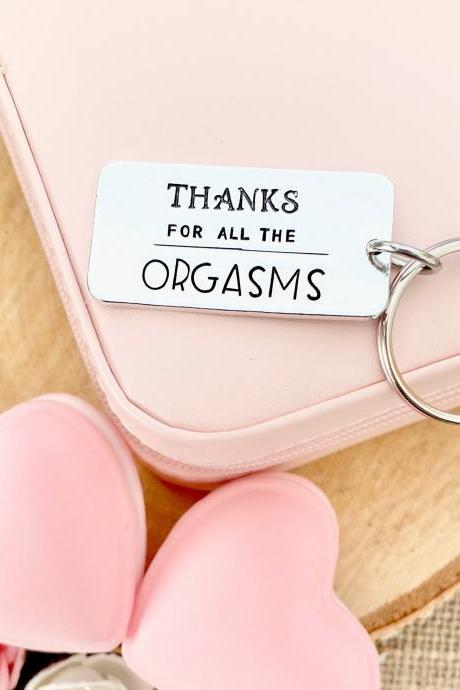 Thanks For All The Orgasms, Valentine's Day Gift, Anniversary Gift, Funny, Gift for Men Husband Boyfriend, Girlfriend Wife Gift, Valentine