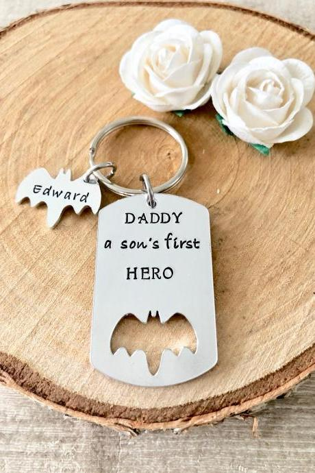 Dad Gift, Gift for Dad, Daddy Gift, New Dad, New Baby, gift from son, dad birthday gift, father's day gift, gift for daddy, dad keychain.