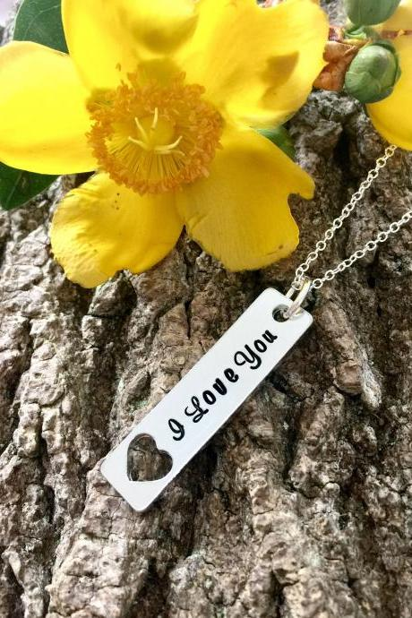 I love you, Wife Necklace, Gift for Her, valentines gift, Anniversary Gift, Girlfriend Gift, Gift for Wife, Fine Necklace, Romantic Gift.