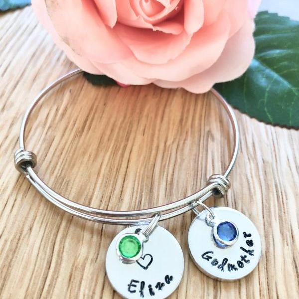Personalised Bangle, Personalised, Bangle, Bracelet, Custom, Names, Birthstone, Personalised Bracelet, Childrens Names, Mothers Day, For her.